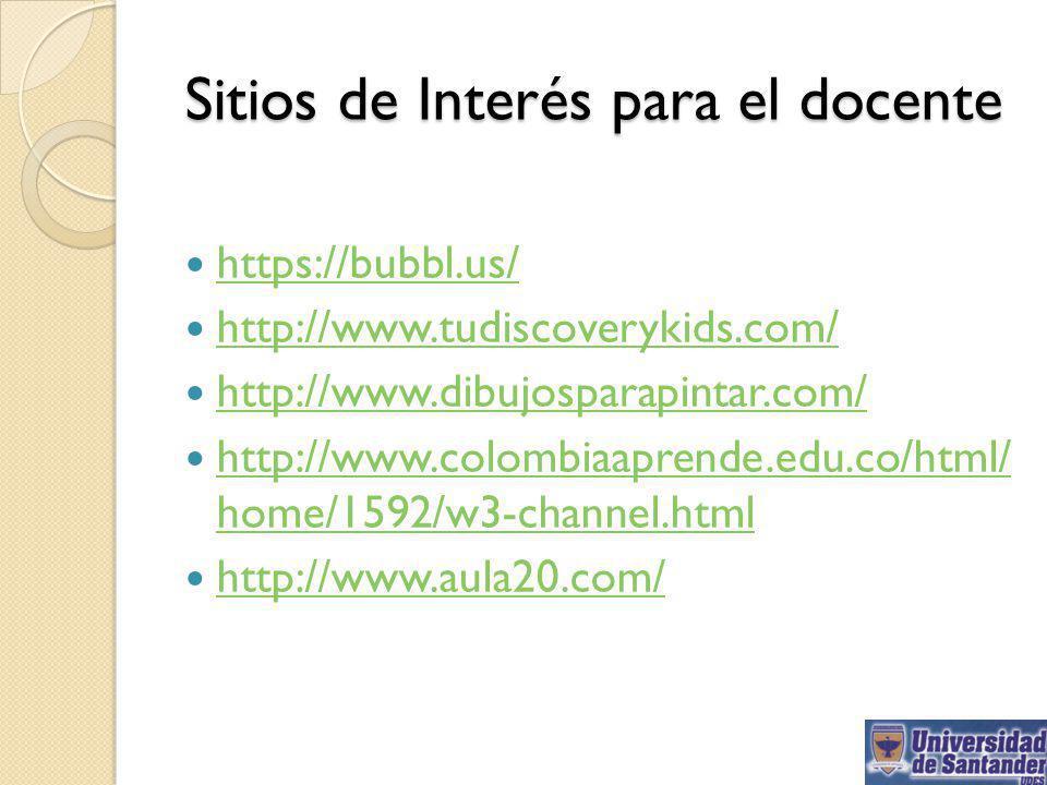 Sitios de Interés para el docente