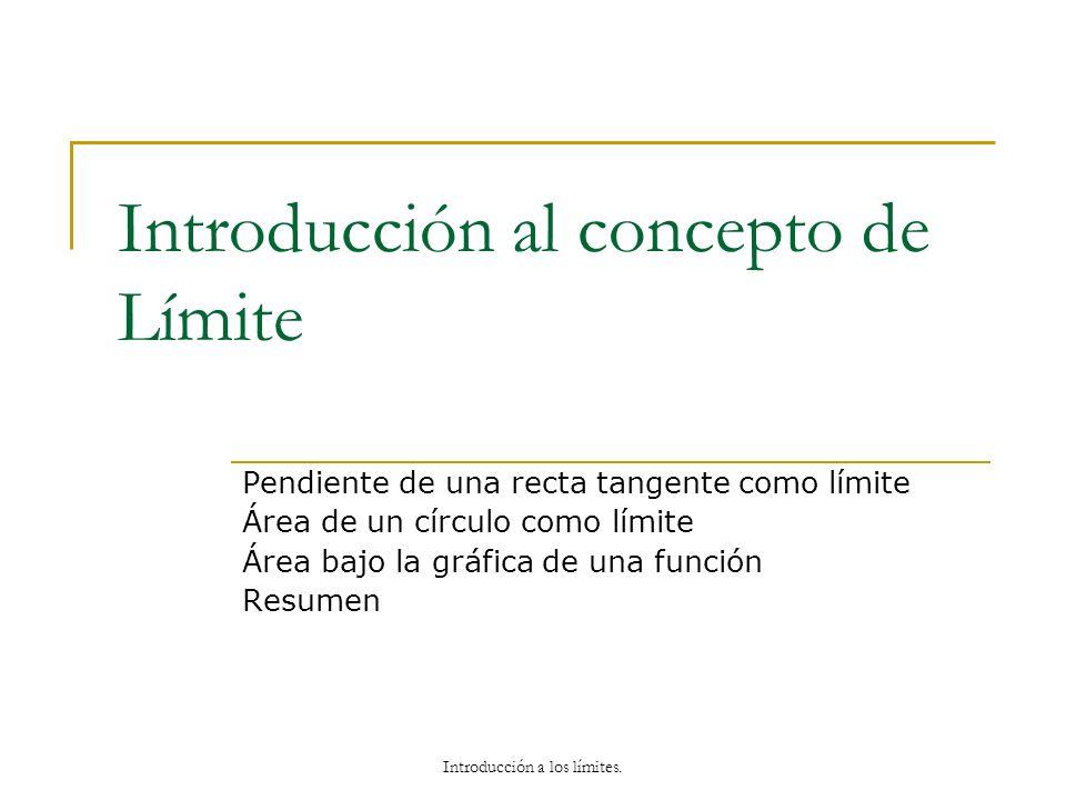 Introducción al concepto de Límite