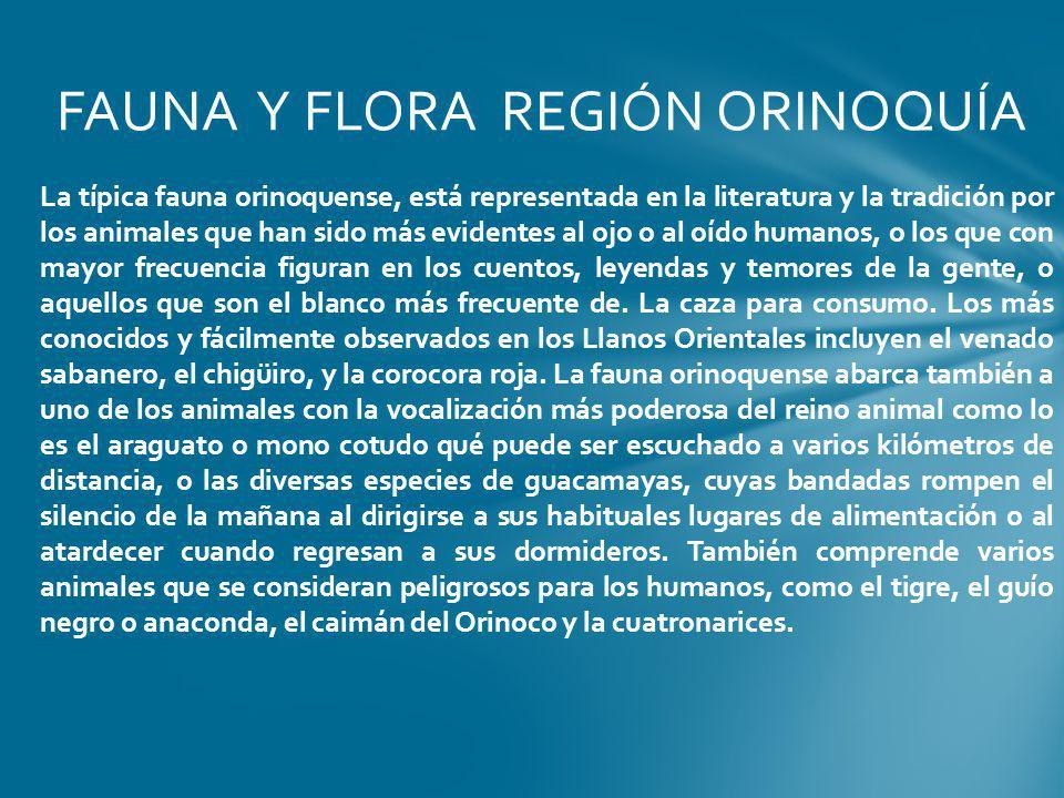 FAUNA Y FLORA REGIÓN ORINOQUÍA