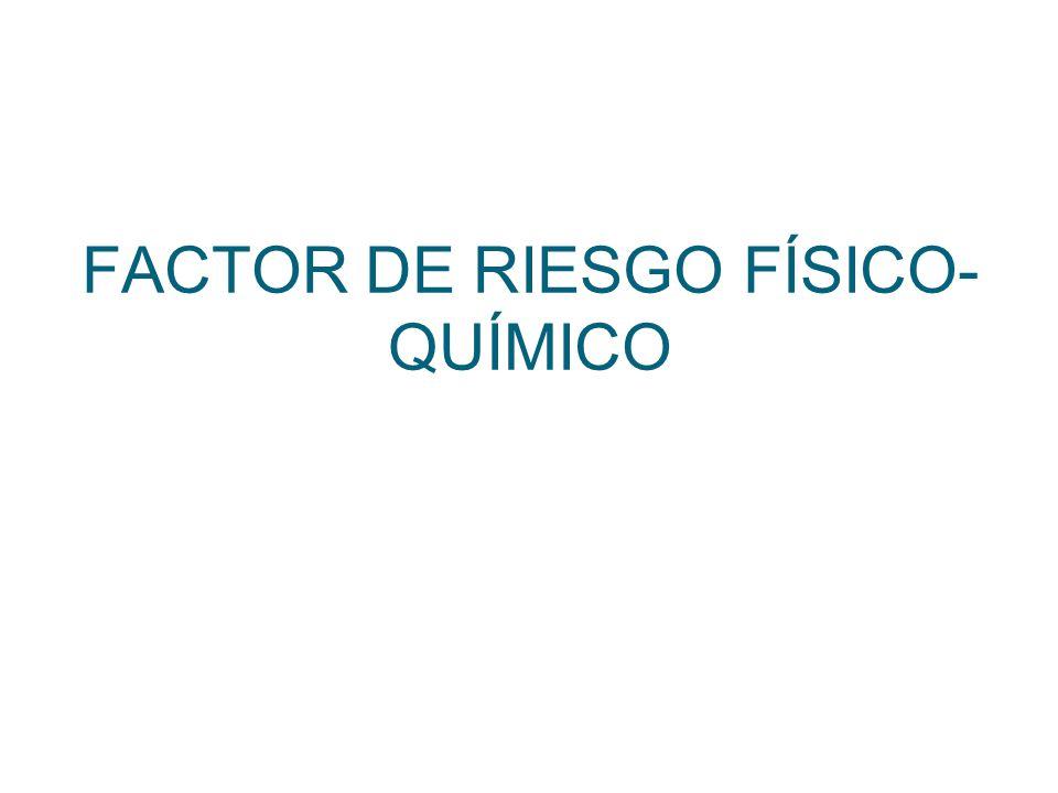 FACTOR DE RIESGO FÍSICO-QUÍMICO