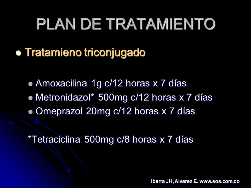 PLAN DE TRATAMIENTO Tratamieno triconjugado