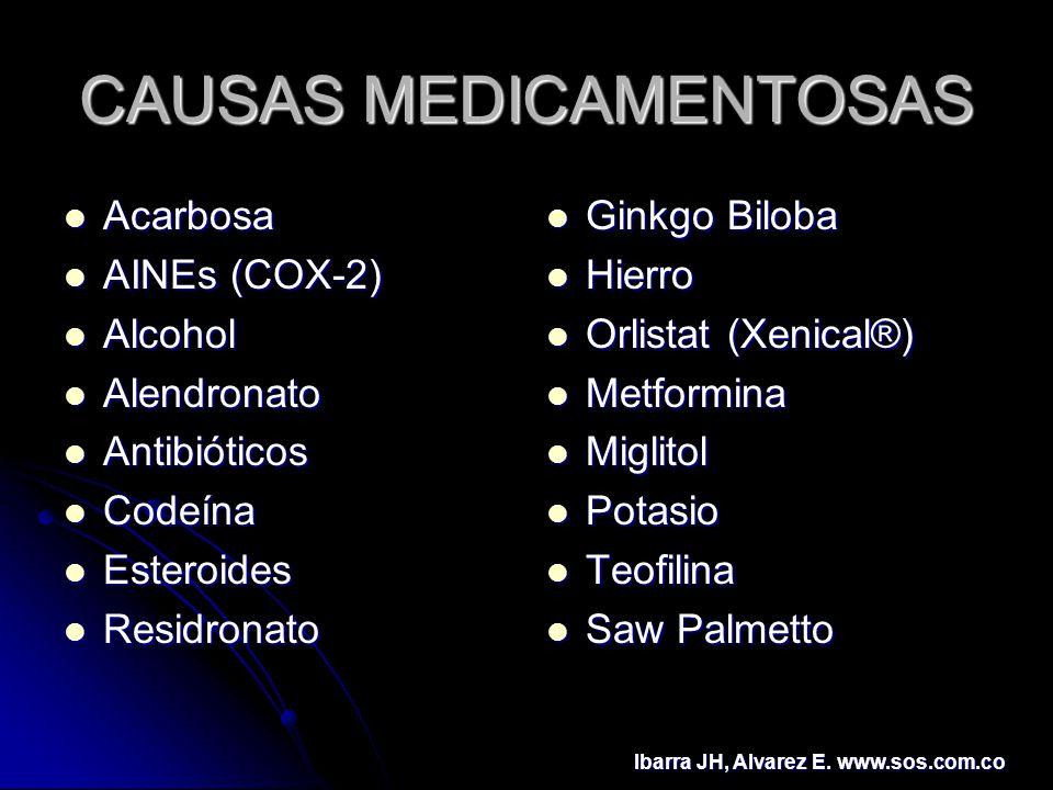 CAUSAS MEDICAMENTOSAS
