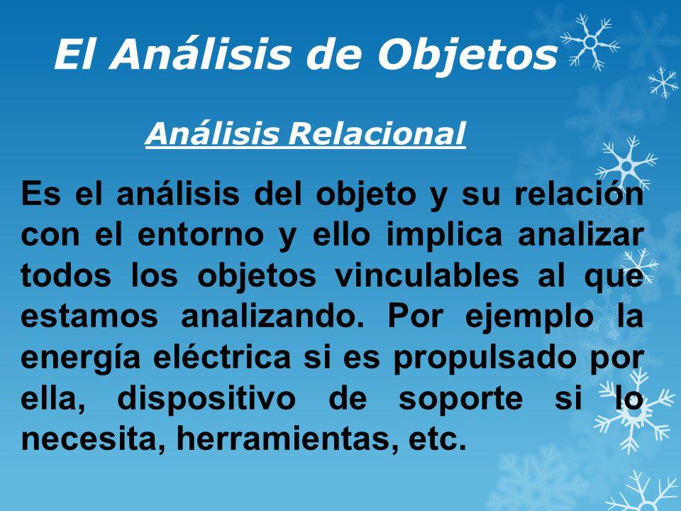 El Análisis de Objetos Análisis Relacional