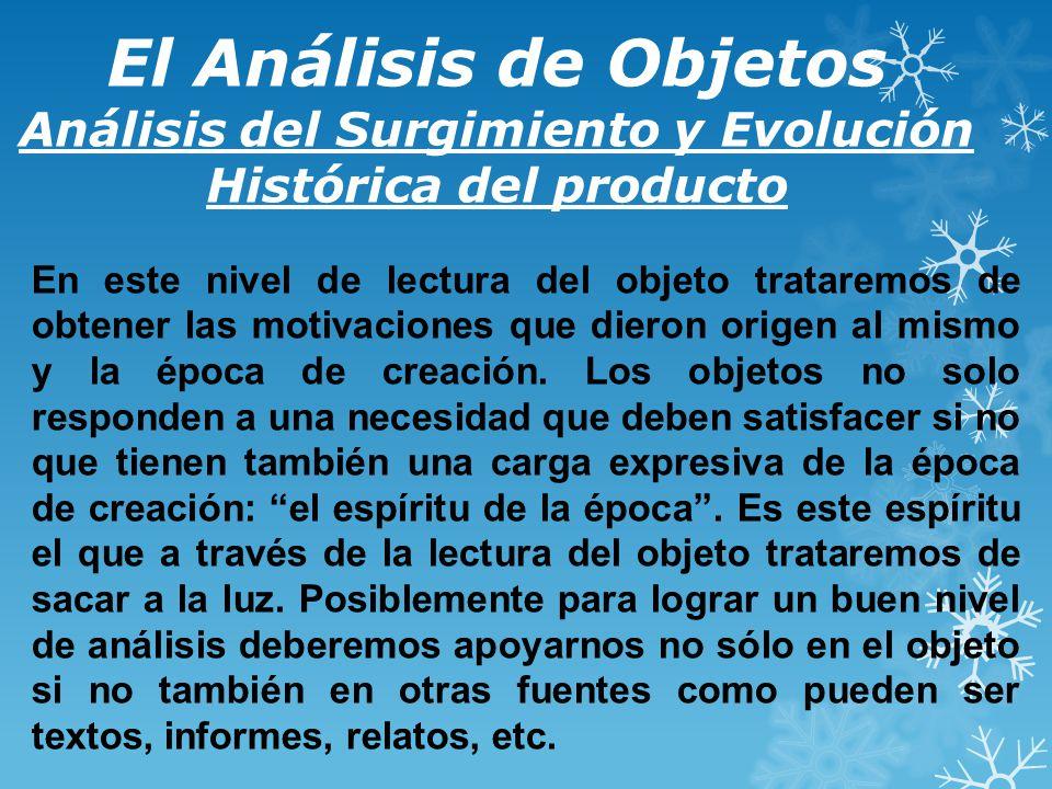 El Análisis de Objetos Análisis del Surgimiento y Evolución Histórica del producto