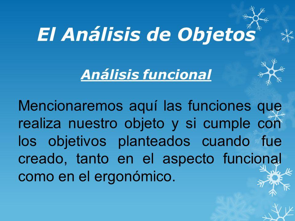 El Análisis de Objetos Análisis funcional