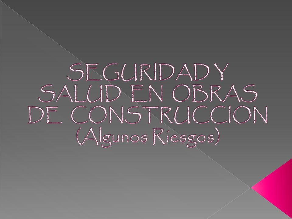 SEGURIDAD Y SALUD EN OBRAS DE CONSTRUCCION (Algunos Riesgos)