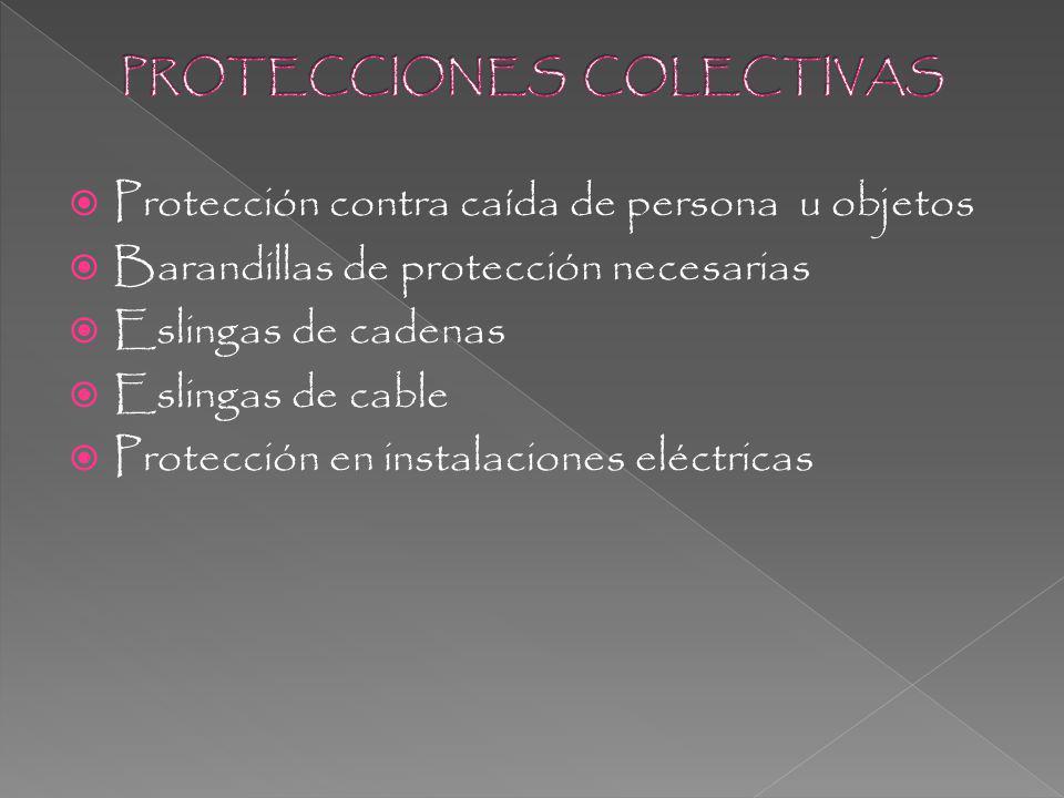 PROTECCIONES COLECTIVAS
