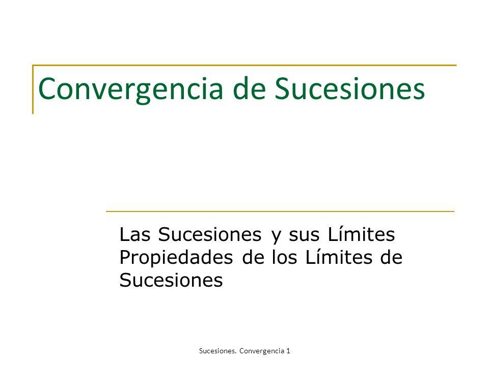 Convergencia de Sucesiones
