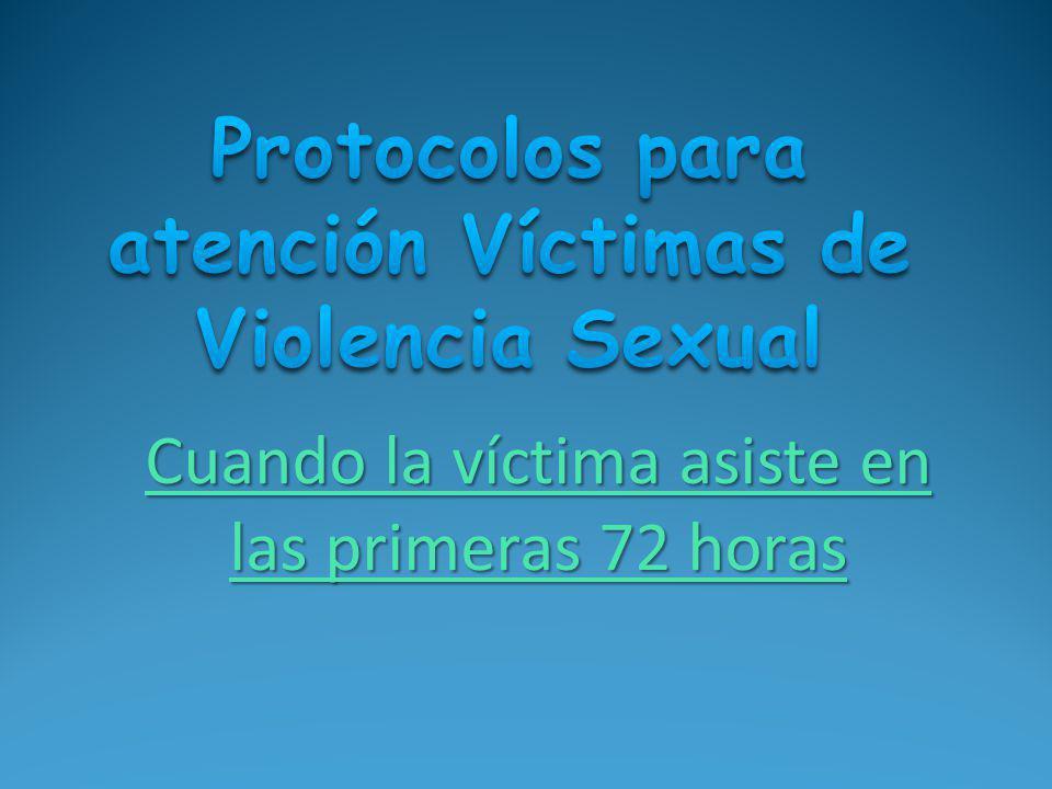 Protocolos para atención Víctimas de Violencia Sexual