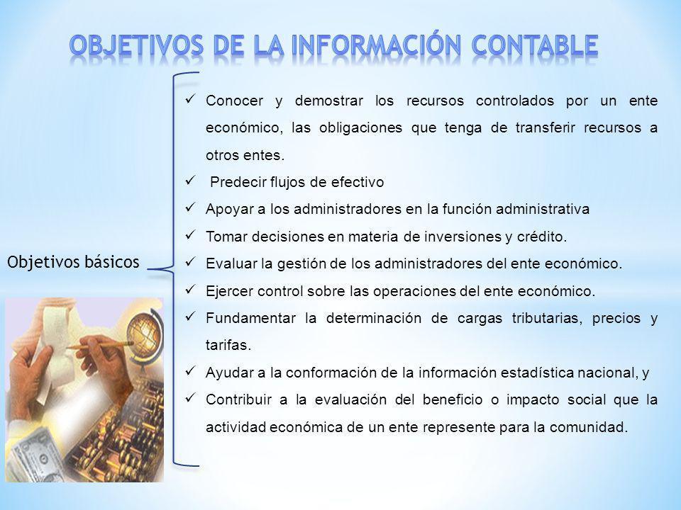 Objetivos de la informaciÓn contable