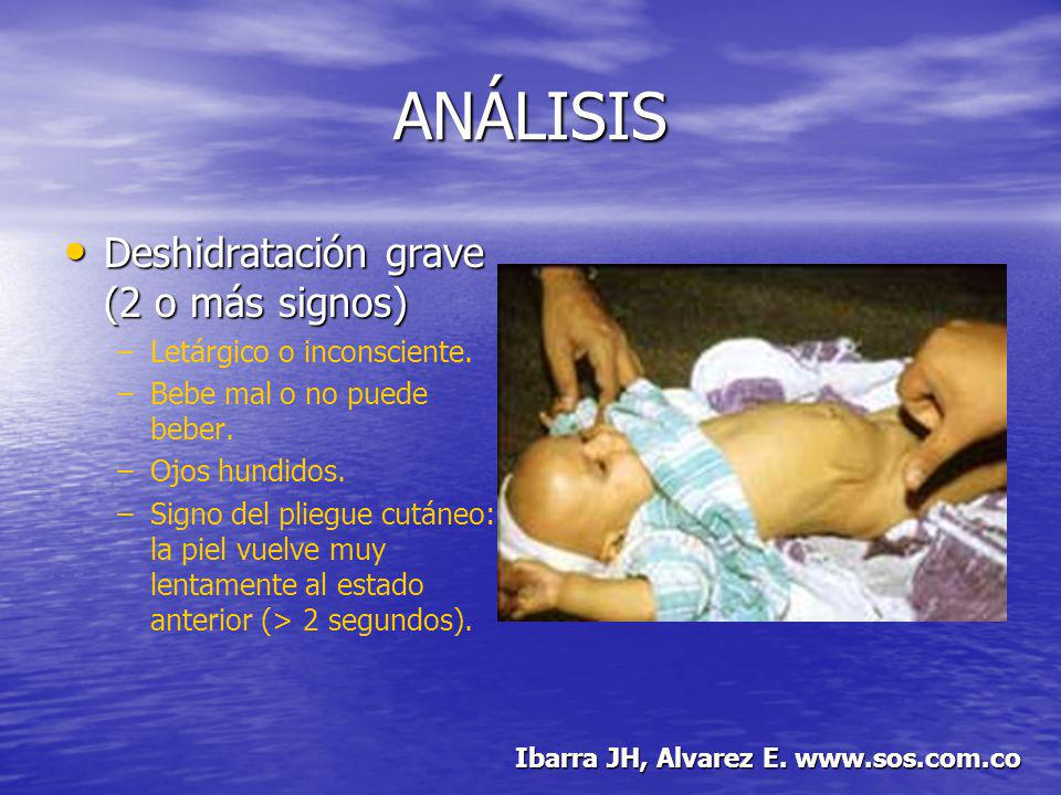ANÁLISIS Deshidratación grave (2 o más signos)