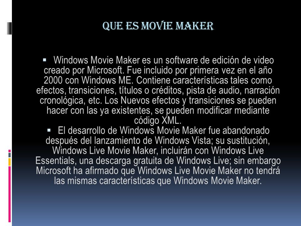 Que es movie maker