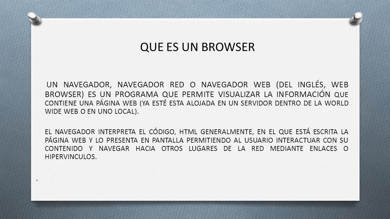Que es un browser