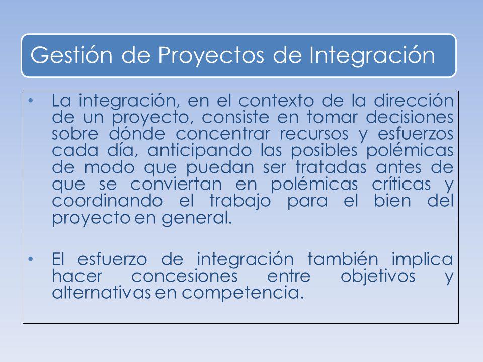 Gestión de Proyectos de Integración