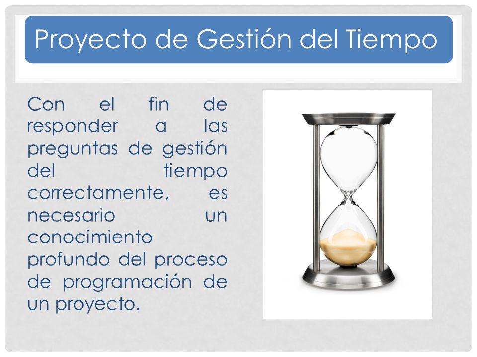 Proyecto de Gestión del Tiempo
