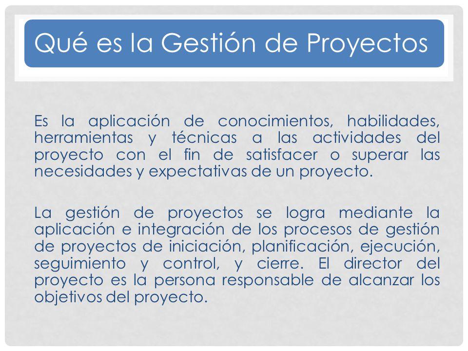 Qué es la Gestión de Proyectos