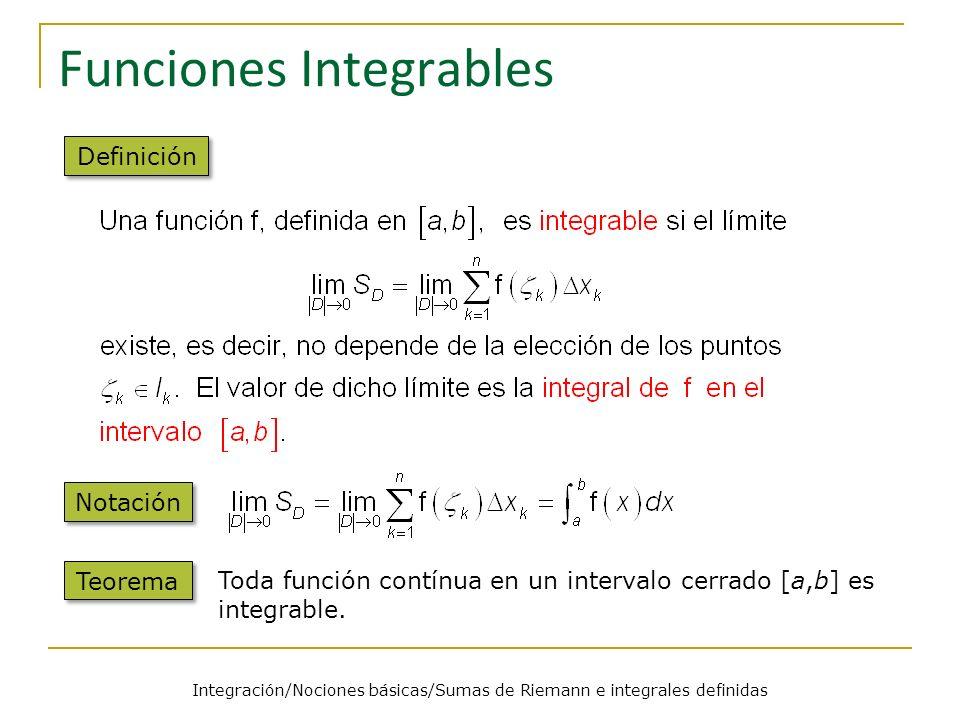 Funciones Integrables