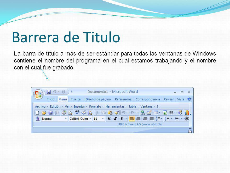 Barrera de Titulo