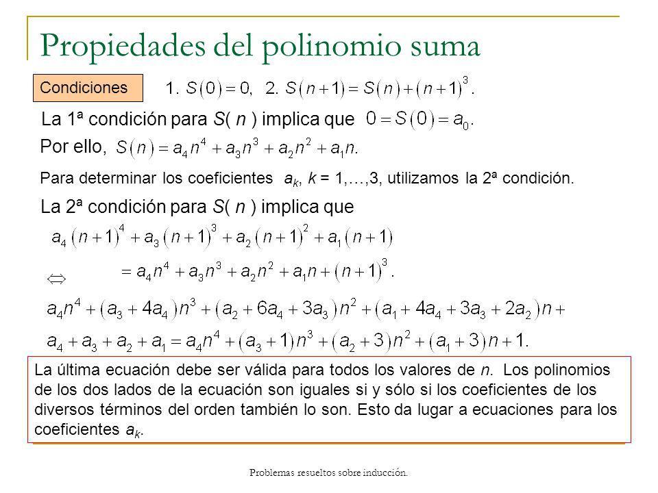 Propiedades del polinomio suma