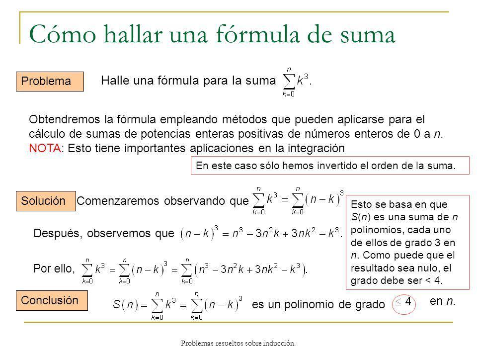 Cómo hallar una fórmula de suma