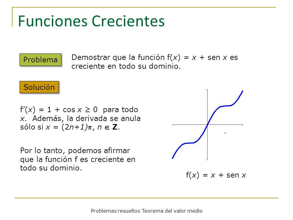 Problemas resueltos Teorema del valor medio