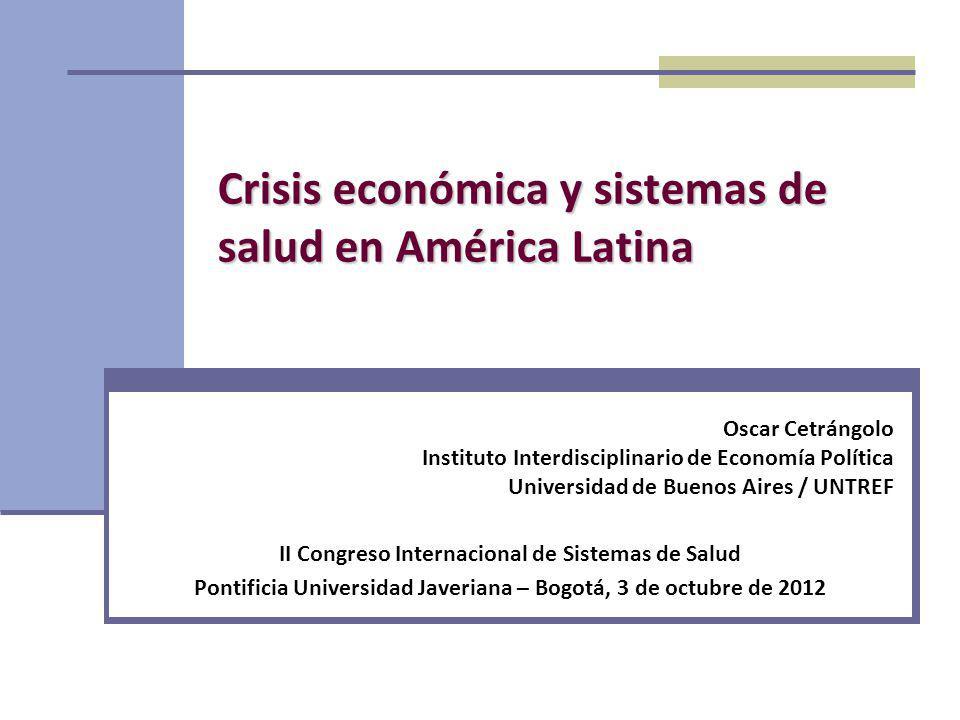 Crisis económica y sistemas de salud en América Latina