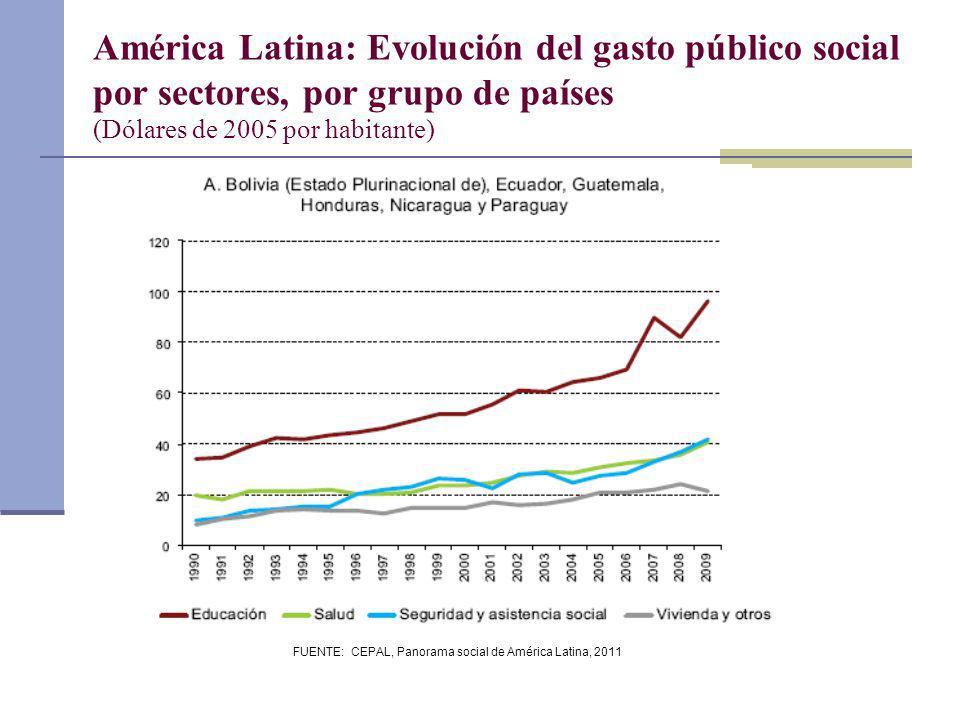 FUENTE: CEPAL, Panorama social de América Latina, 2011