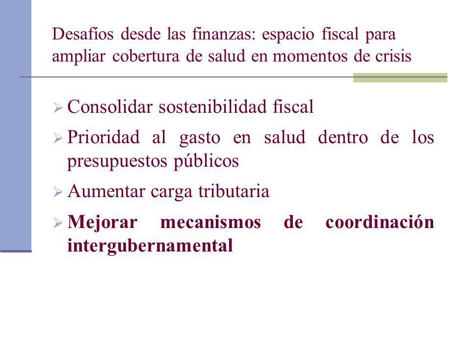 Consolidar sostenibilidad fiscal