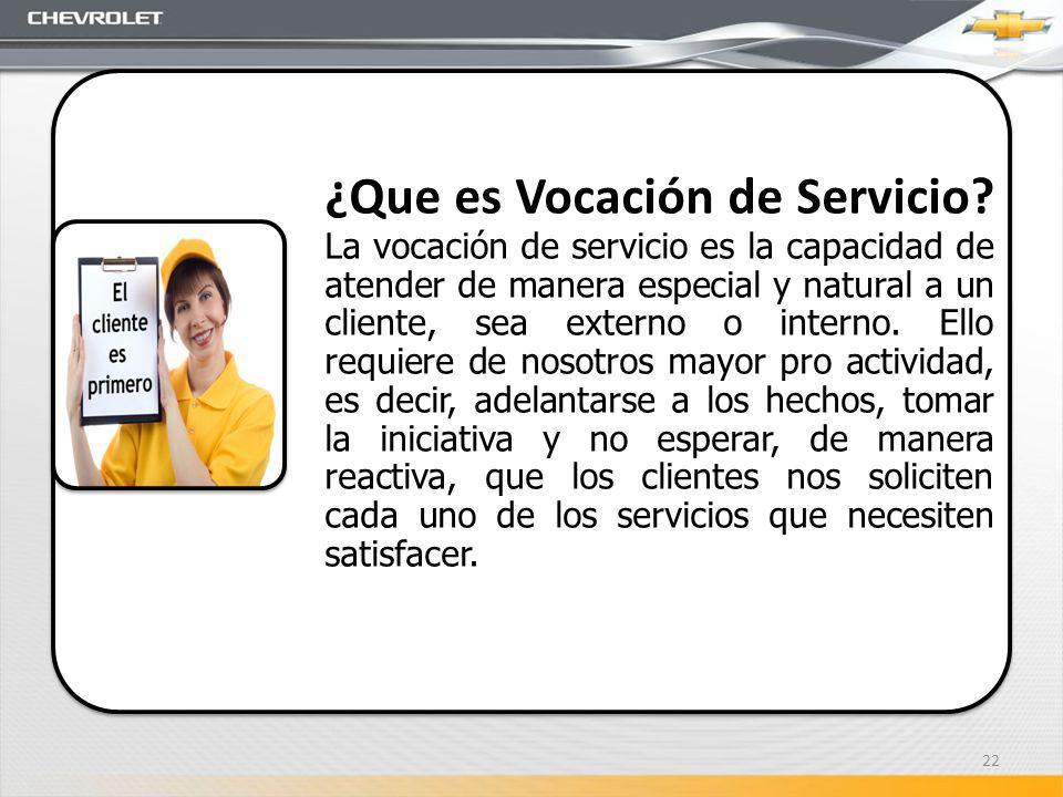 ¿Que es Vocación de Servicio