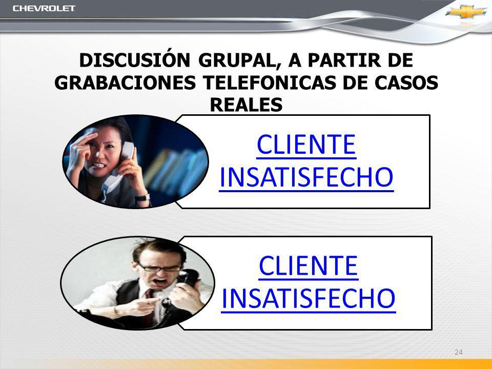 DISCUSIÓN GRUPAL, A PARTIR DE GRABACIONES TELEFONICAS DE CASOS REALES