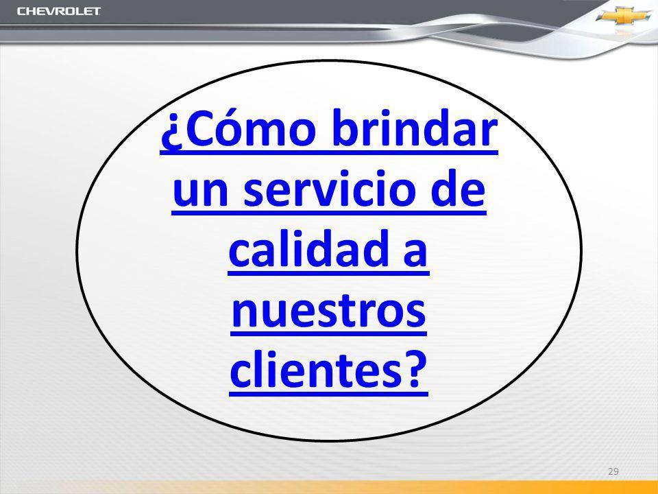 ¿Cómo brindar un servicio de calidad a nuestros clientes