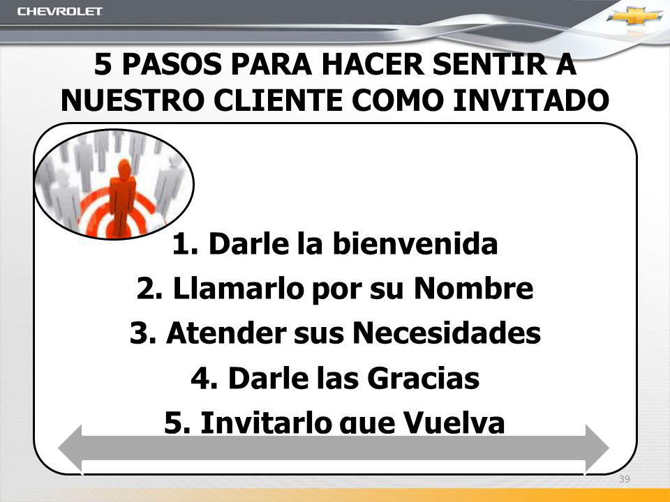 5 PASOS PARA HACER SENTIR A NUESTRO CLIENTE COMO INVITADO
