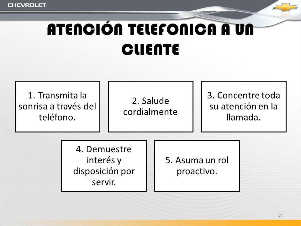 ATENCIÓN TELEFONICA A UN CLIENTE