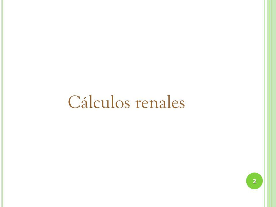Cálculos renales