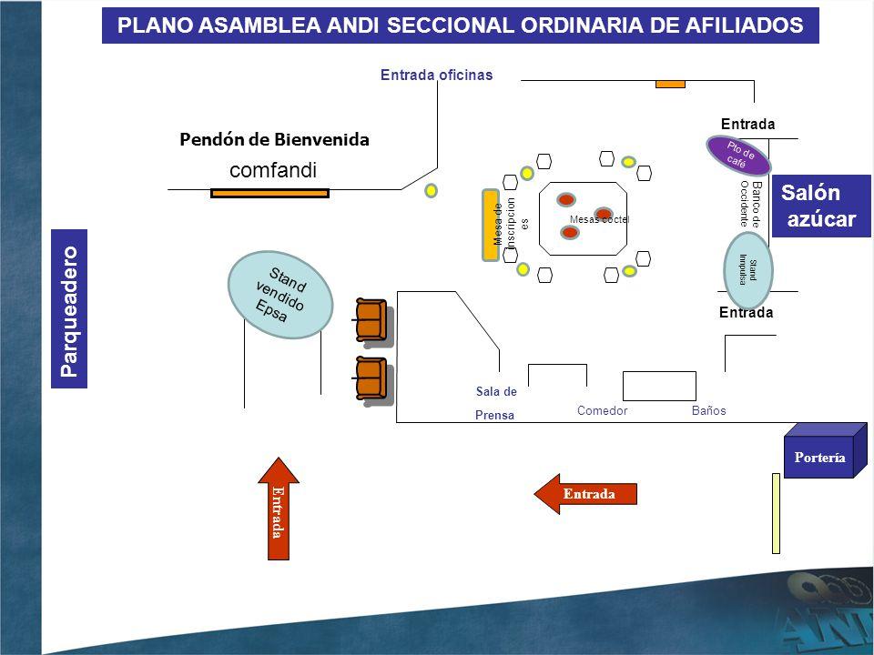PLANO ASAMBLEA ANDI SECCIONAL ORDINARIA DE AFILIADOS