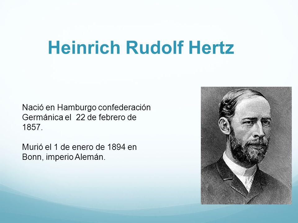 Heinrich Rudolf Hertz Nació en Hamburgo confederación Germánica el 22 de febrero de 1857.