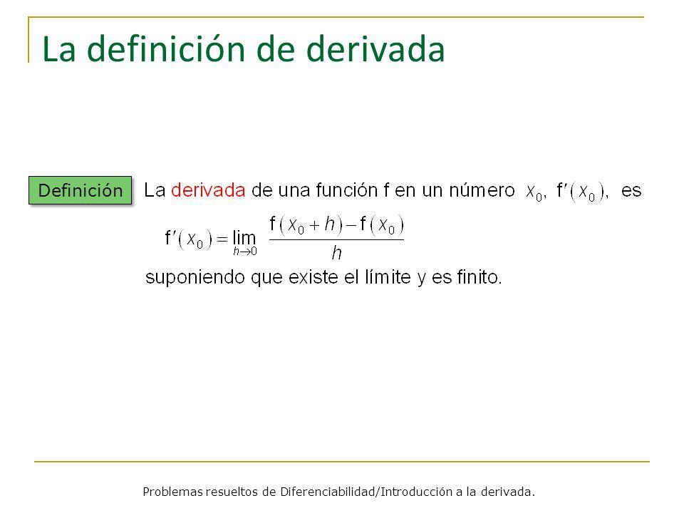 La definición de derivada