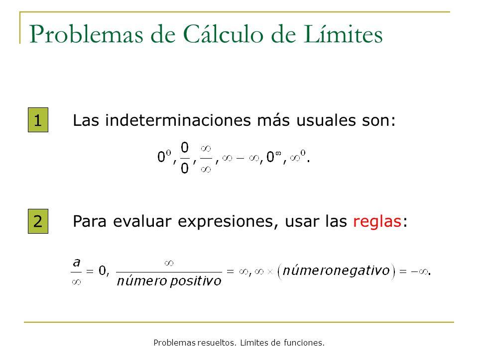 Problemas de Cálculo de Límites