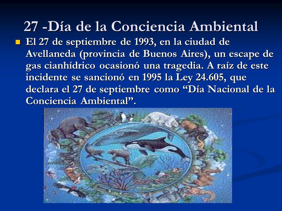 27 -Día de la Conciencia Ambiental