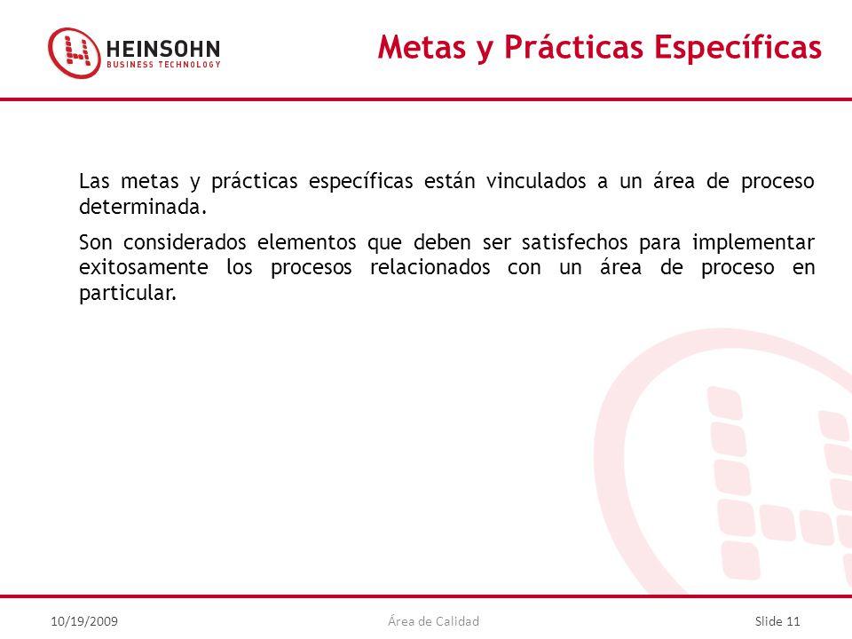 Metas y Prácticas Específicas
