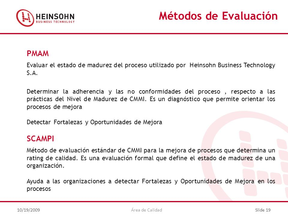Métodos de Evaluación PMAM SCAMPI