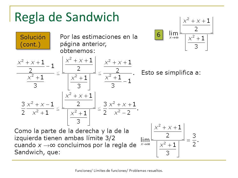 Funciones/ Límites de funciones/ Problemas resueltos.