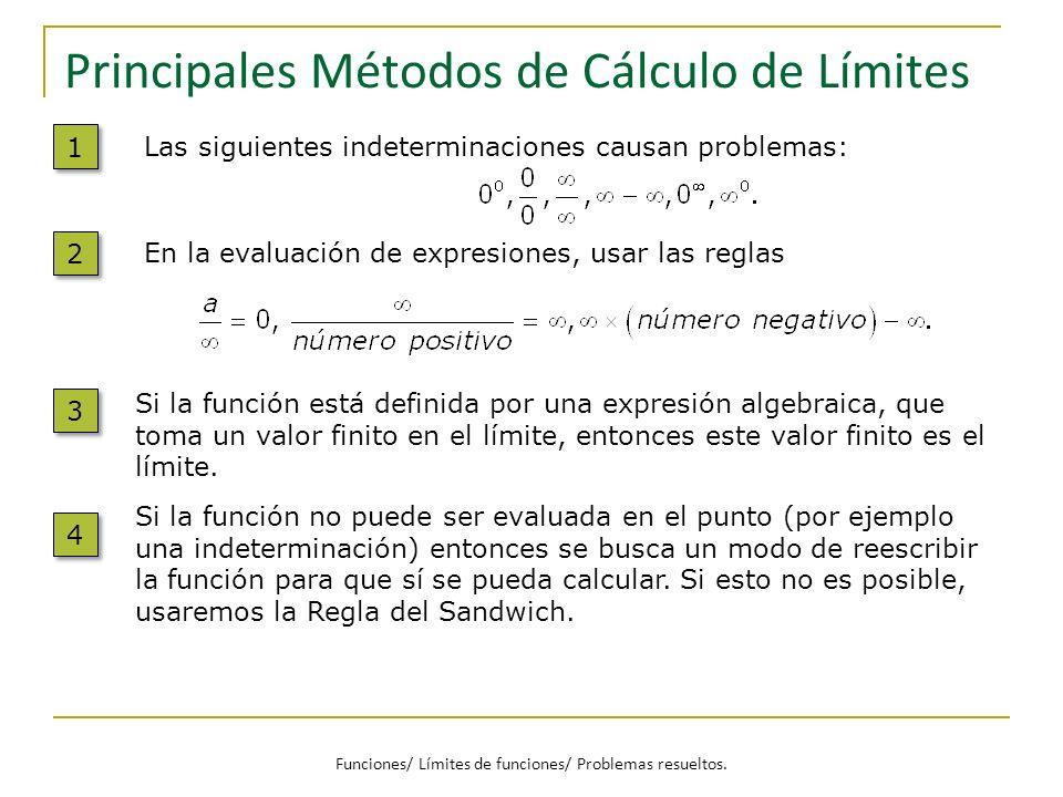 Principales Métodos de Cálculo de Límites