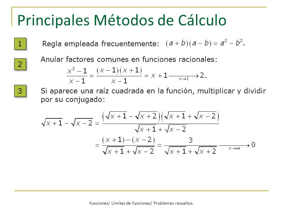 Principales Métodos de Cálculo