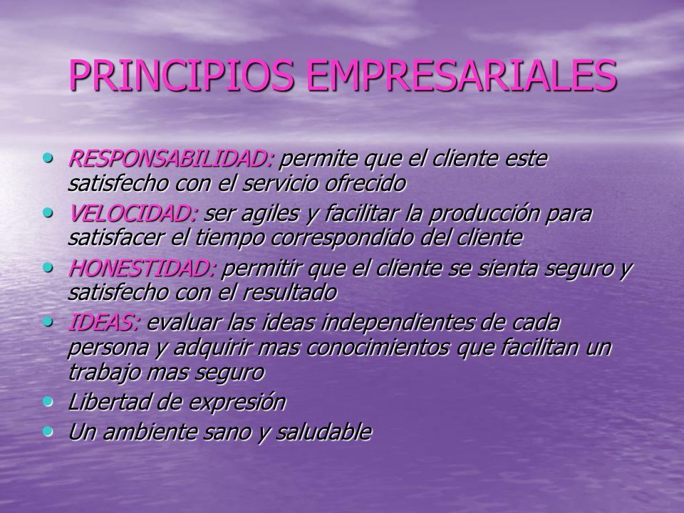 PRINCIPIOS EMPRESARIALES