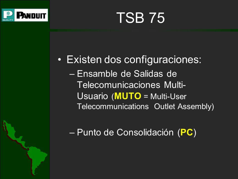 TSB 75 Existen dos configuraciones: