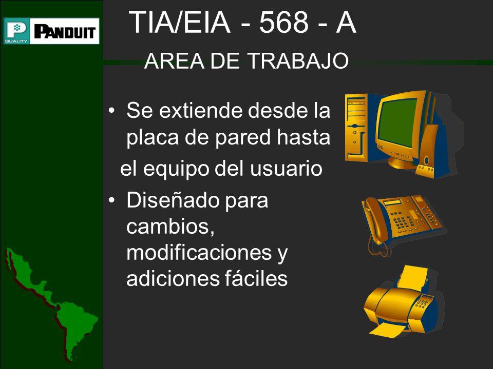 TIA/EIA - 568 - A AREA DE TRABAJO