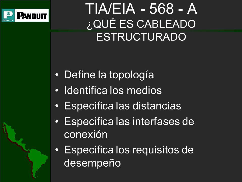 TIA/EIA - 568 - A ¿QUÉ ES CABLEADO ESTRUCTURADO