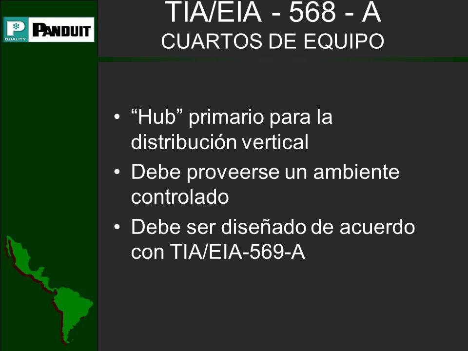 TIA/EIA - 568 - A CUARTOS DE EQUIPO