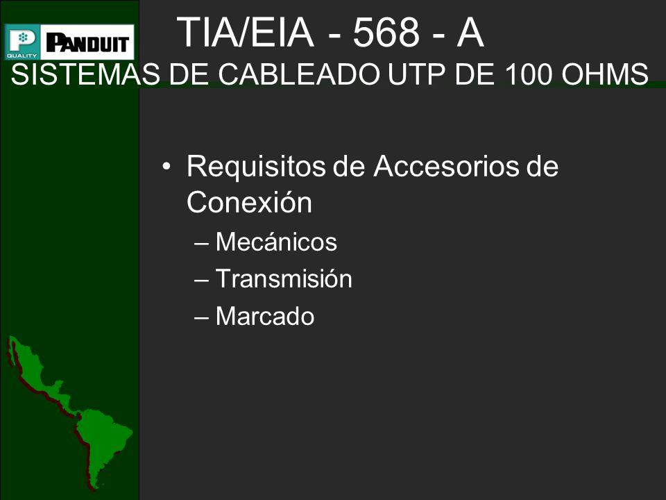 TIA/EIA - 568 - A SISTEMAS DE CABLEADO UTP DE 100 OHMS